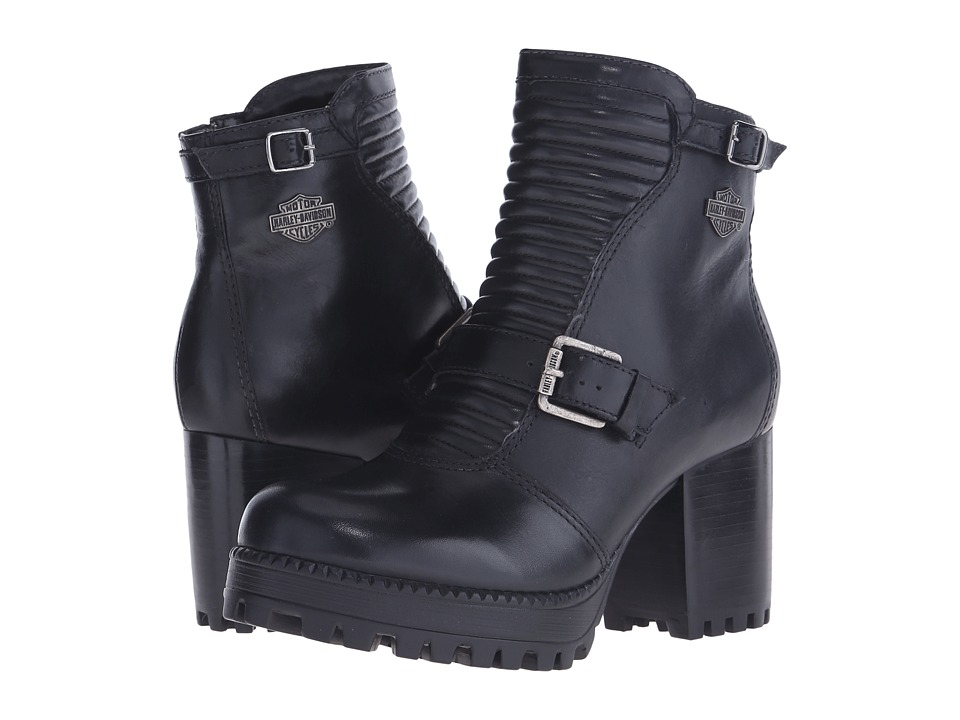 Harley Davidson Canell Black Womens Zip Boots