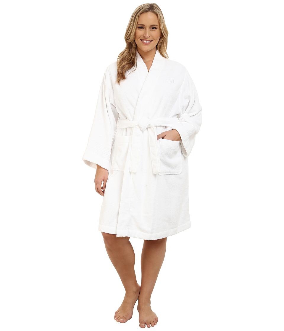Ralph Lauren Plus Size Greenwich Robe (White) Women's Robe