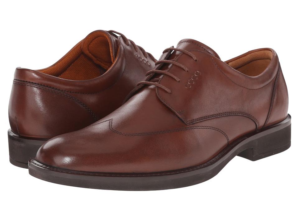 ECCO Biarritz Cognac Cow Leather Mens Shoes