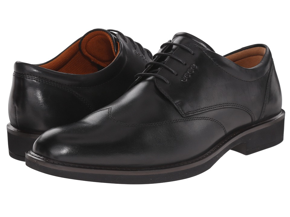 ECCO Biarritz Black Cow Leather Mens Shoes