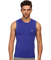 Emporio Armani - Brushed Microfiber Sleeveless Tee