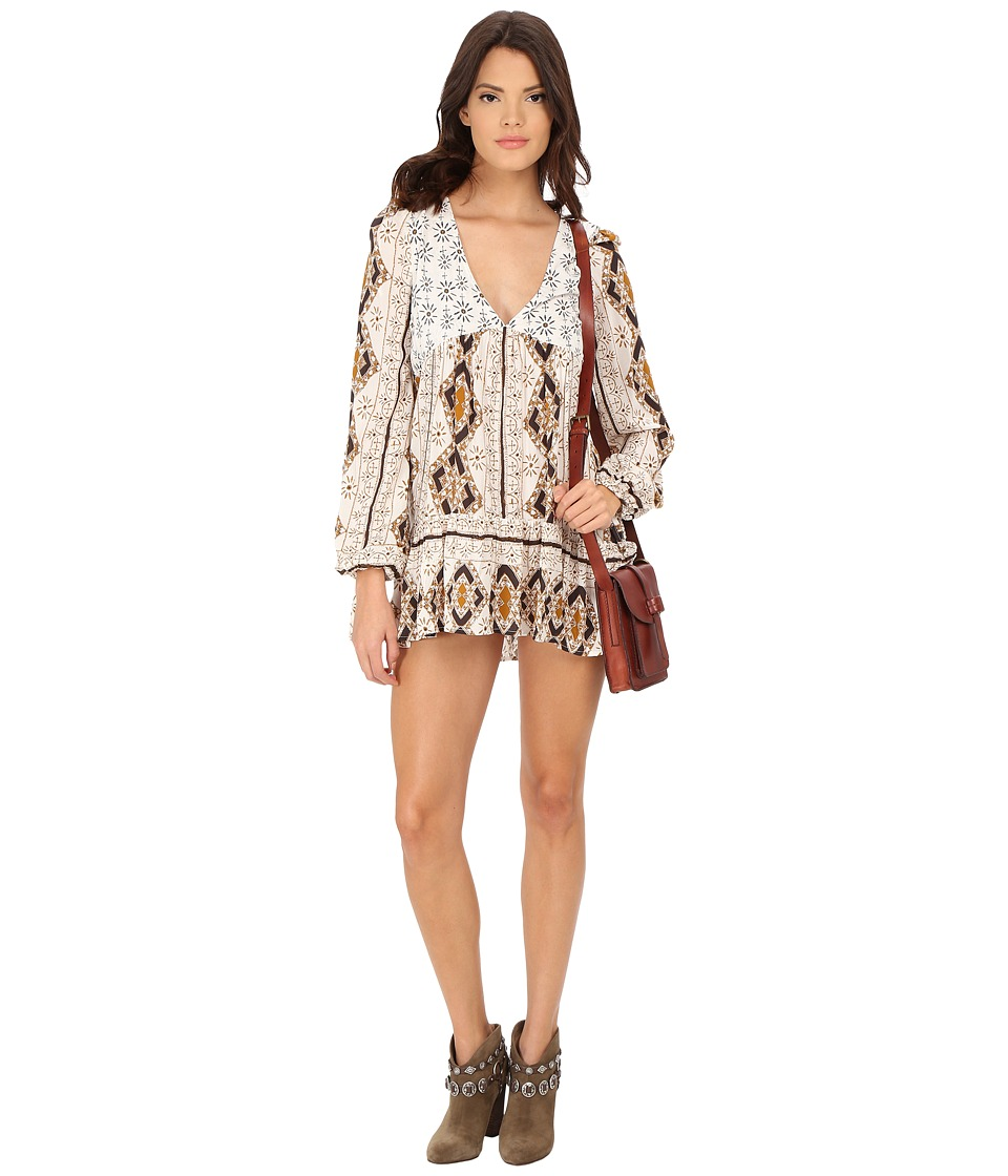 Free People Down By The Bay Dress Ivory Combo Womens Dress