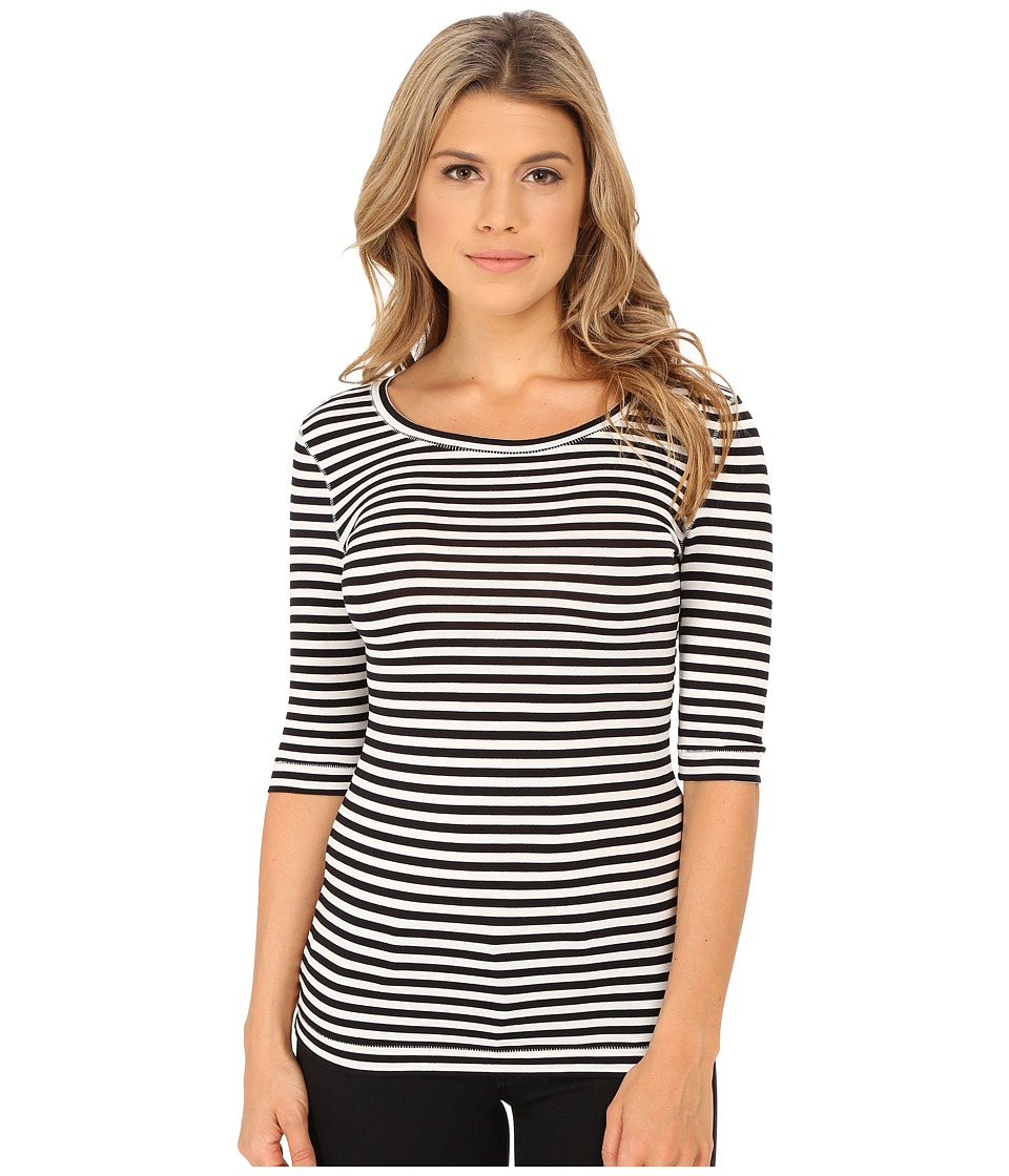 Free People Leader Of The Pack Striped Tee Ivory Combo Womens T Shirt