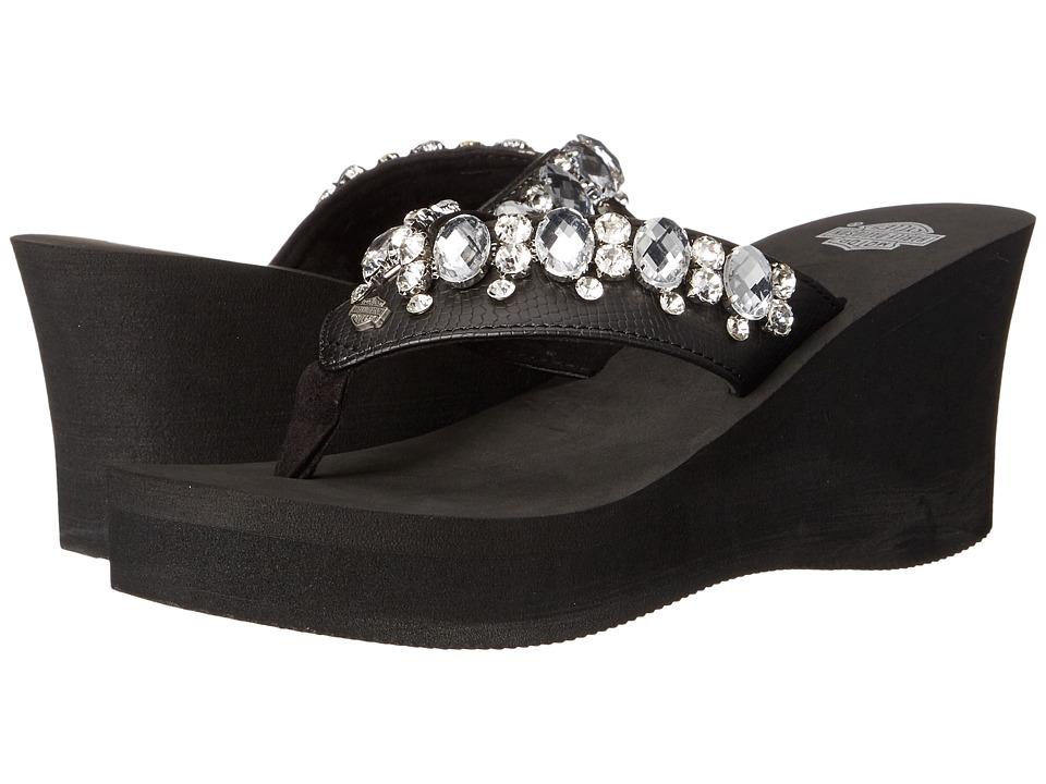 Harley Davidson Abdella Black Womens Wedge Shoes