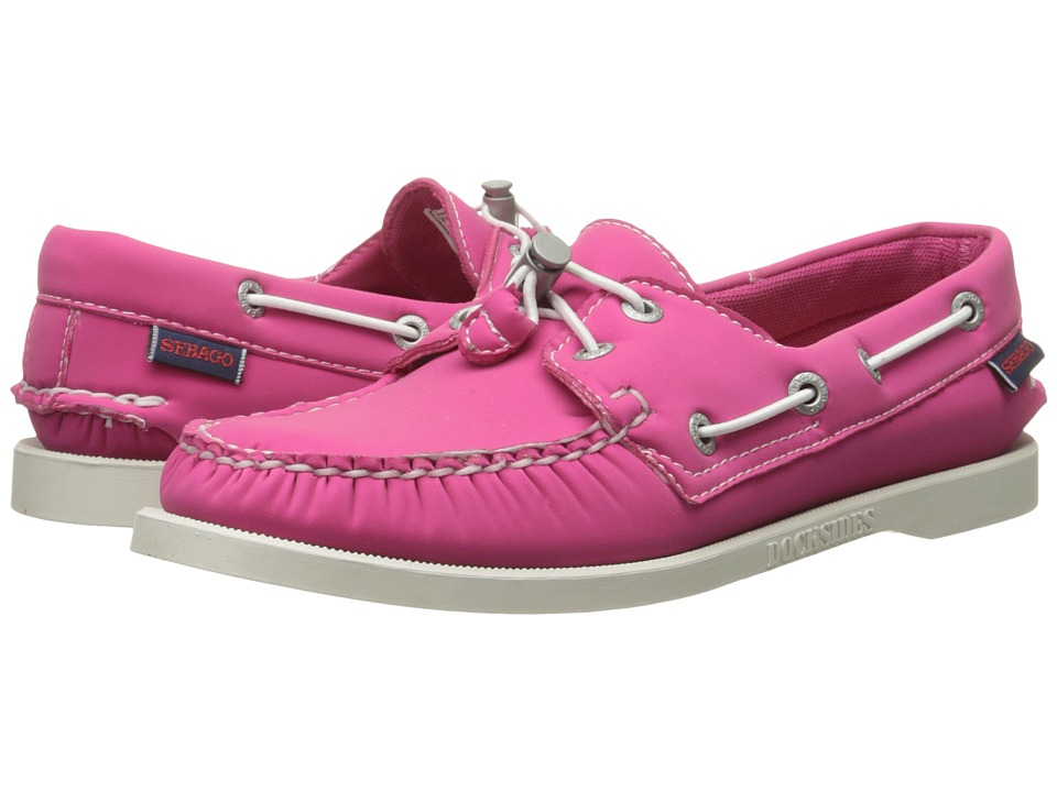Sebago Dockside Ariaprene Fuchsia Neoprene Womens Slip on Shoes