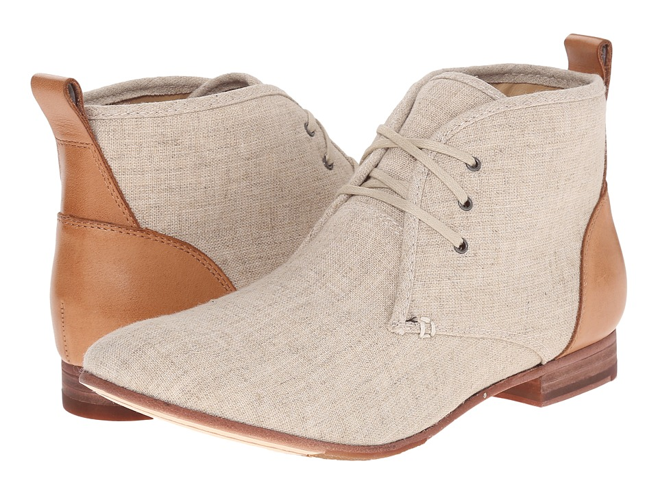 Sebago Hutton Chukka Natural Linen/Tan Leather Womens Lace up Boots