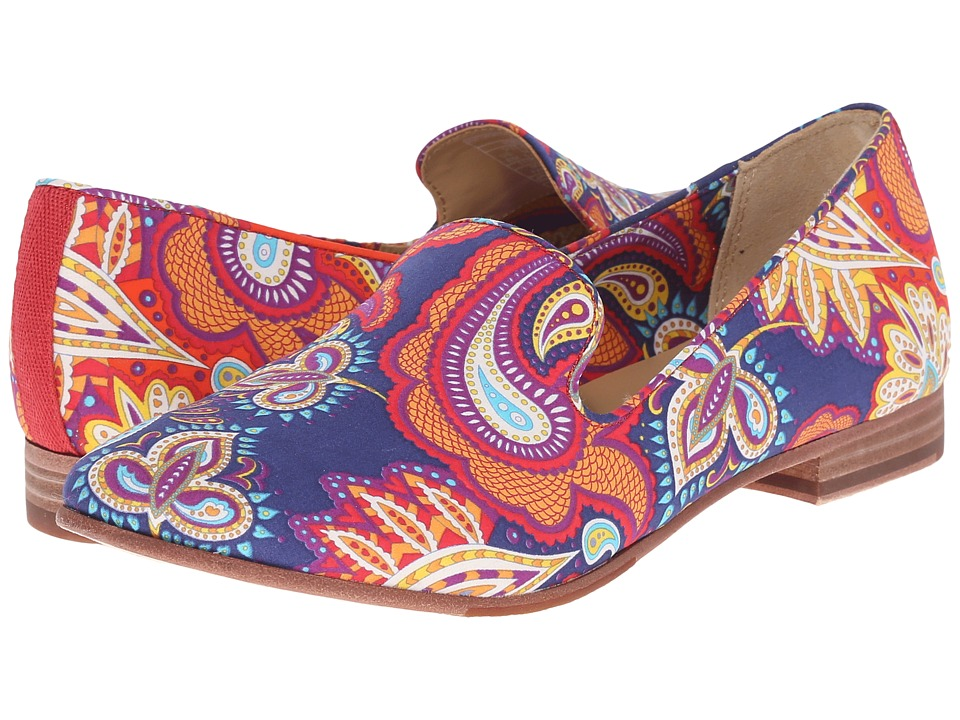 Sebago Hutton Smoking Flat Persia Liberty Print Womens Slip on Shoes