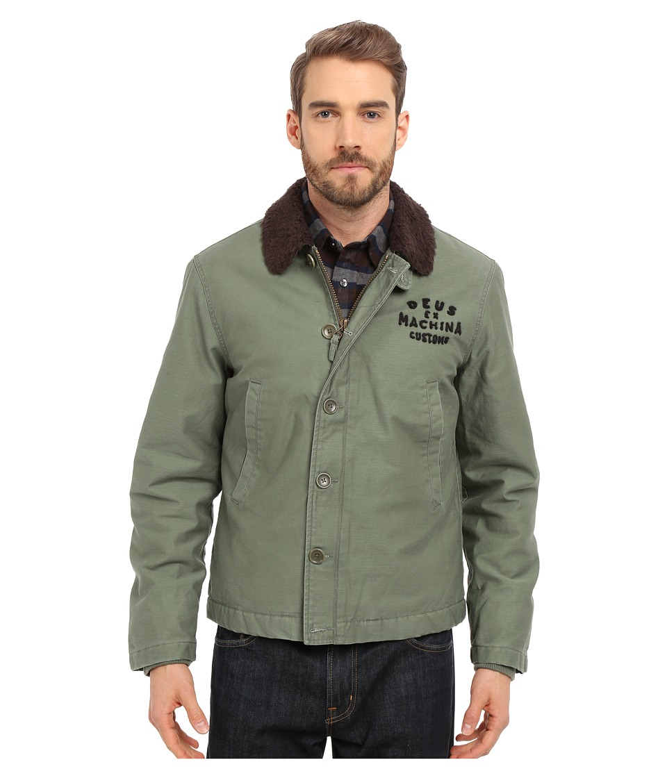 Deus Ex Machina Deck Jacket Army Green Mens Coat
