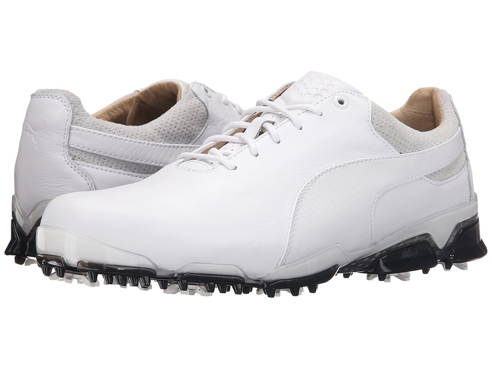 PUMA Golf Titantour Ignite Premium (White/Glacier Gray/Black) Men