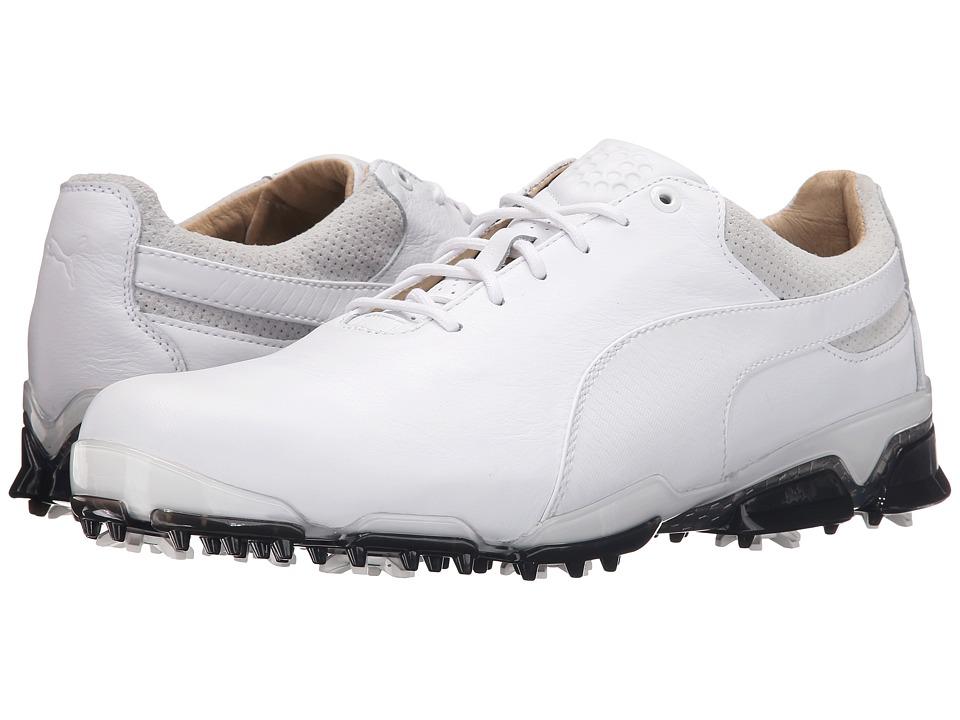 PUMA Golf Titantour Ignite Premium (White/Glacier Gray/Black) Men