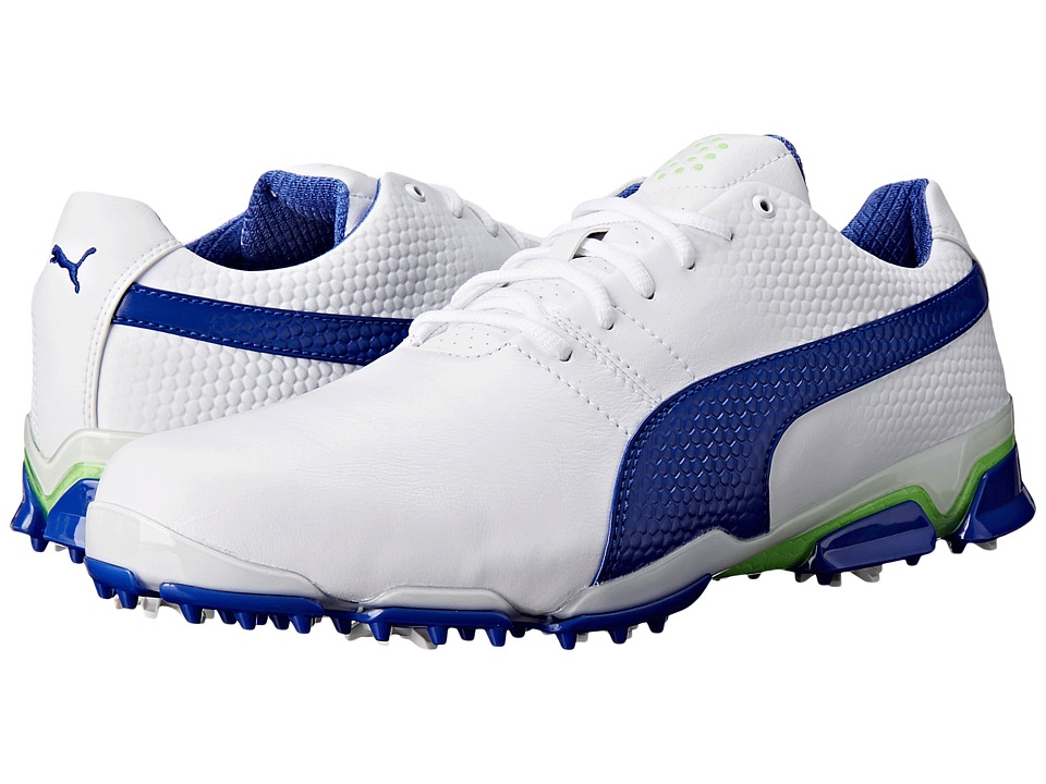 PUMA Golf - Titantour Ignite (White/Surf the Web/Green Gecko) Men