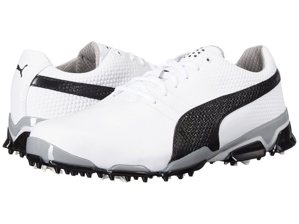 PUMA Golf Titantour Ignite (White/Black/Drizzle) Men