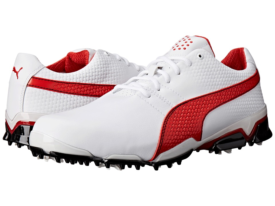 PUMA Golf - Titantour Ignite (White/High Risk Red/Black) Men