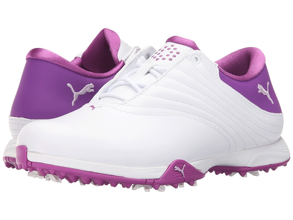 PUMA Golf Blaze White/Orchid Bloom/Purple Cactus Flower Womens Golf Shoes