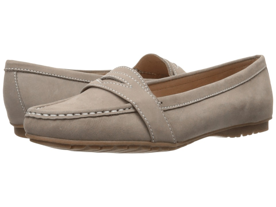 Sebago Meriden Penny Dark Taupe Nubuck Womens Slip on Shoes