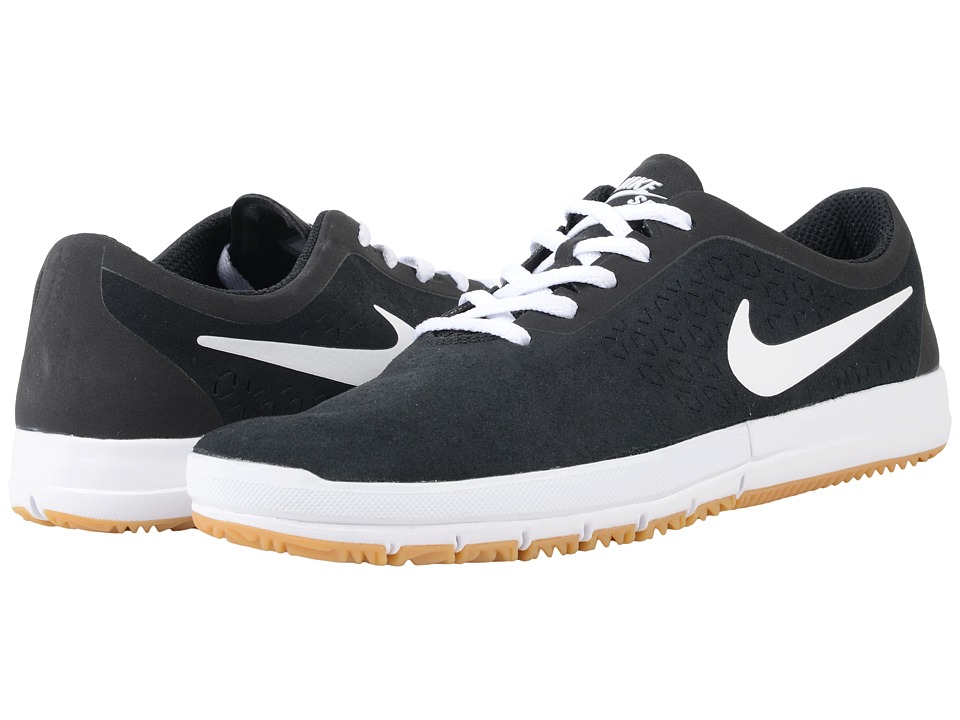 Nike SB Free SB Nano Black/White/Gum Light Brown Mens Skate Shoes