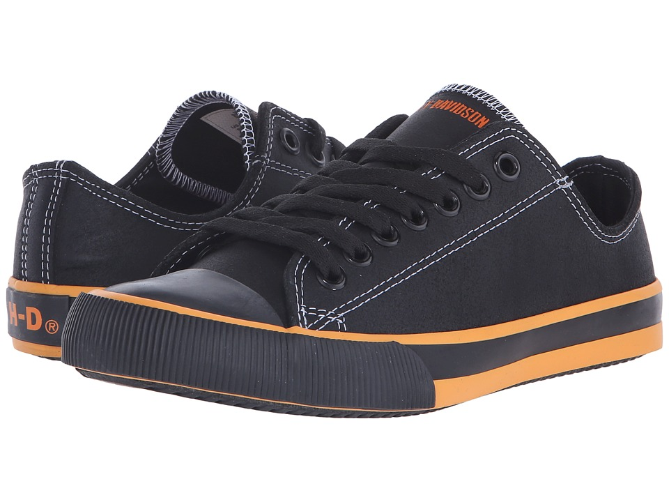 Harley-Davidson - Zia (Black/Orange) Womens Lace up casual Shoes