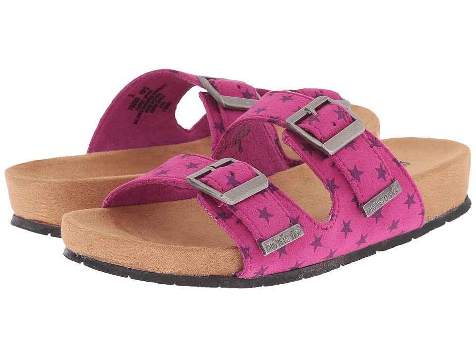 Minnetonka Kids Gigi Toddler/Little Kid/Big Kid Hot Pink Girls Shoes