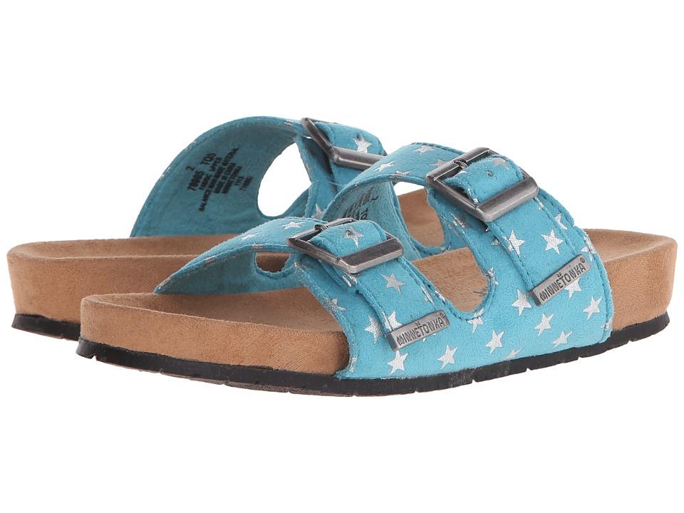 Minnetonka Kids Gigi Toddler/Little Kid/Big Kid Turquoise Girls Shoes