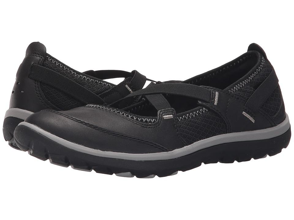 Clarks Aria Maryjane (Black Leather) Women's Maryjane Shoes