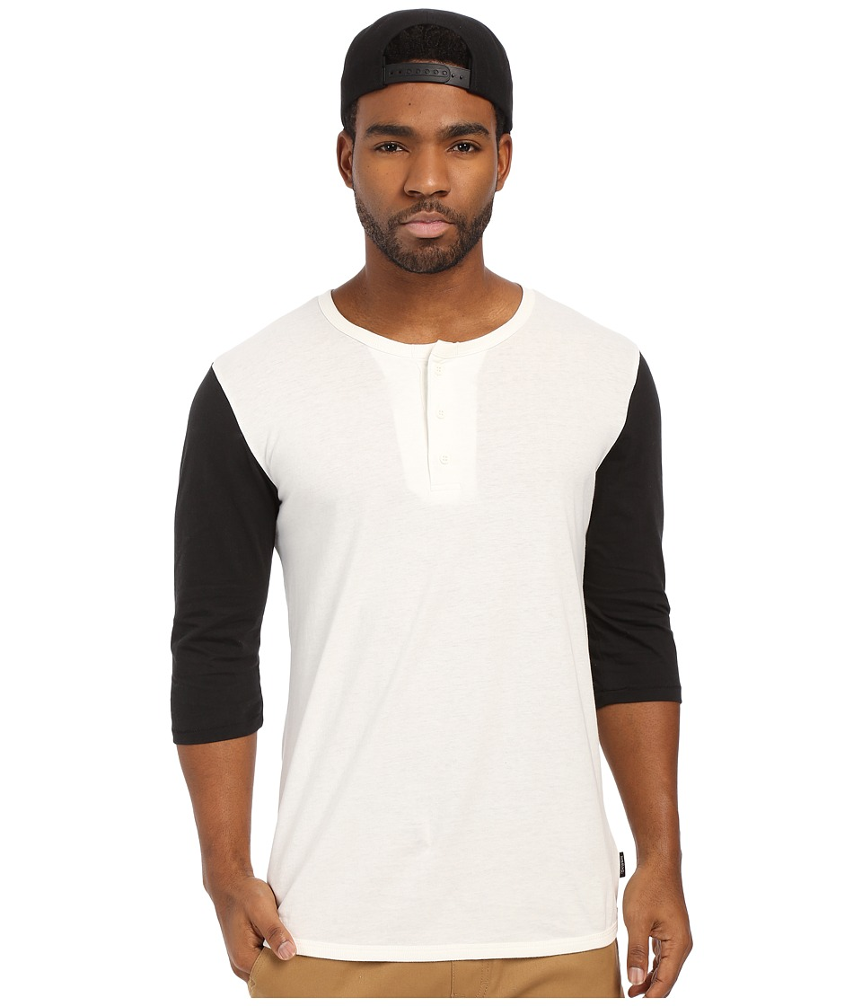 Brixton Adam 3/4 Henley Off White Mens Long Sleeve Pullover