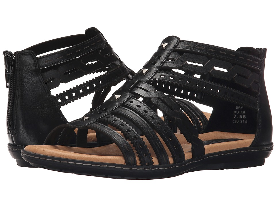Earth Bay Black Soft Calf Womens Sandals