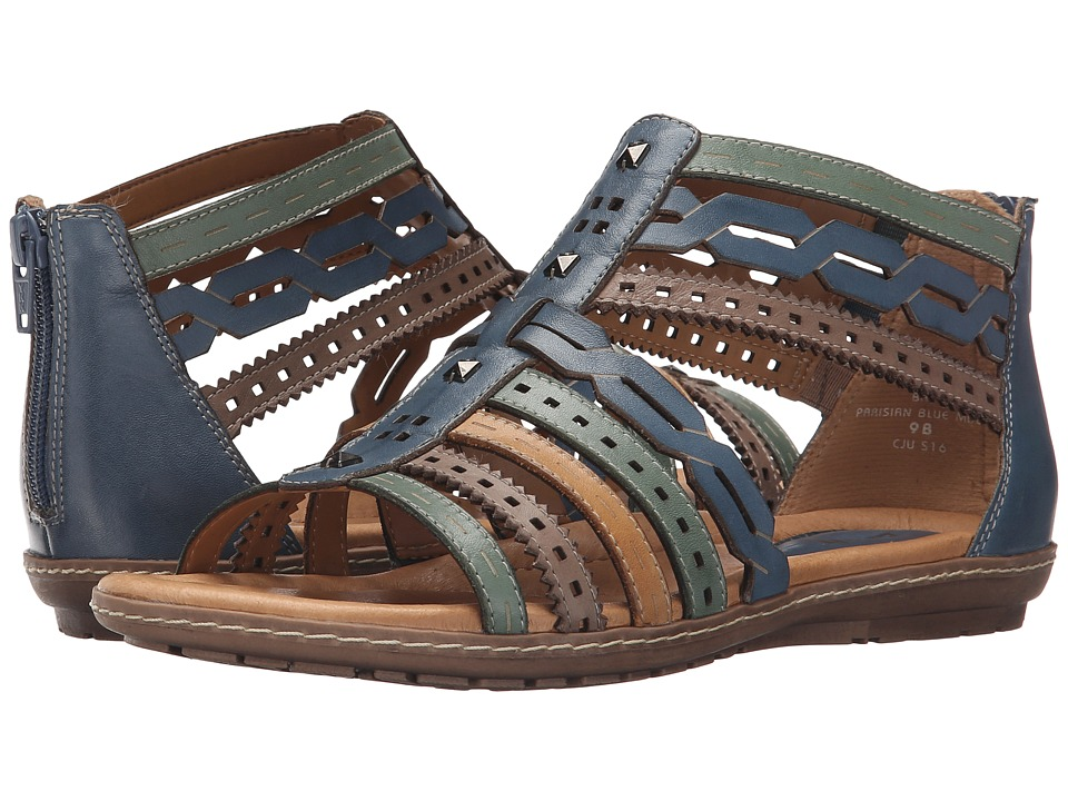 Earth Bay Parisian Blue Multi Soft Calf Womens Sandals
