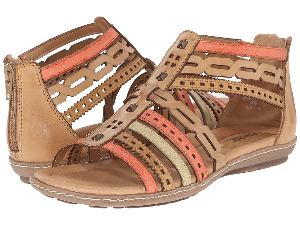 Earth Bay Brown Multi Soft Calf Womens Sandals