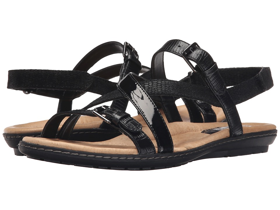 Earth Sandy Black Croco Womens Sandals
