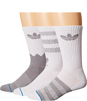 adidas - Originals Textured Crew 3-Pack Socks