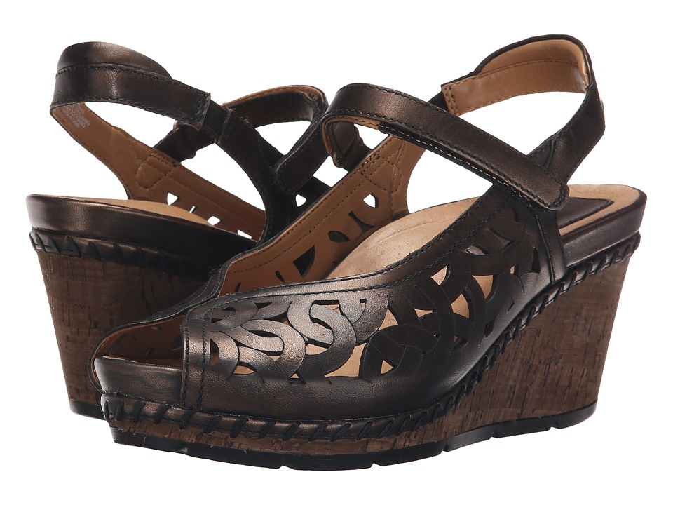 Earth Aquarius Bronze Soft Brush Off Womens Wedge Shoes