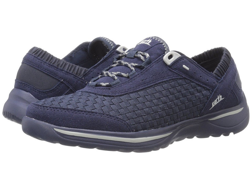 Earth Agile Navy Woven Womens Lace up casual Shoes