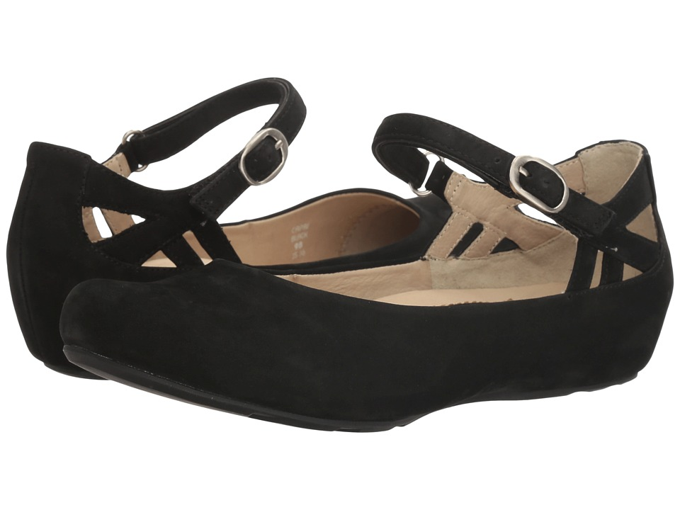 1950s Style Shoes Earth Capri Earthies Black Soft Buck Womens Shoes $149.95 AT vintagedancer.com