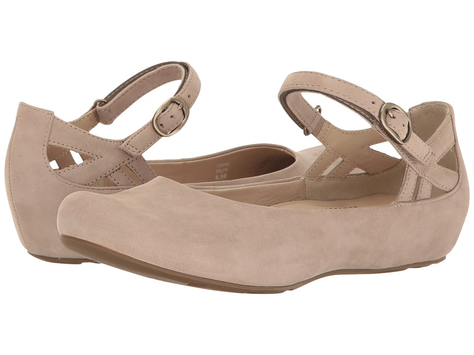 Retro Vintage Flats and Low Heel Shoes Earth - Capri Earthies Taupe Soft Buck Womens Shoes $134.99 AT vintagedancer.com
