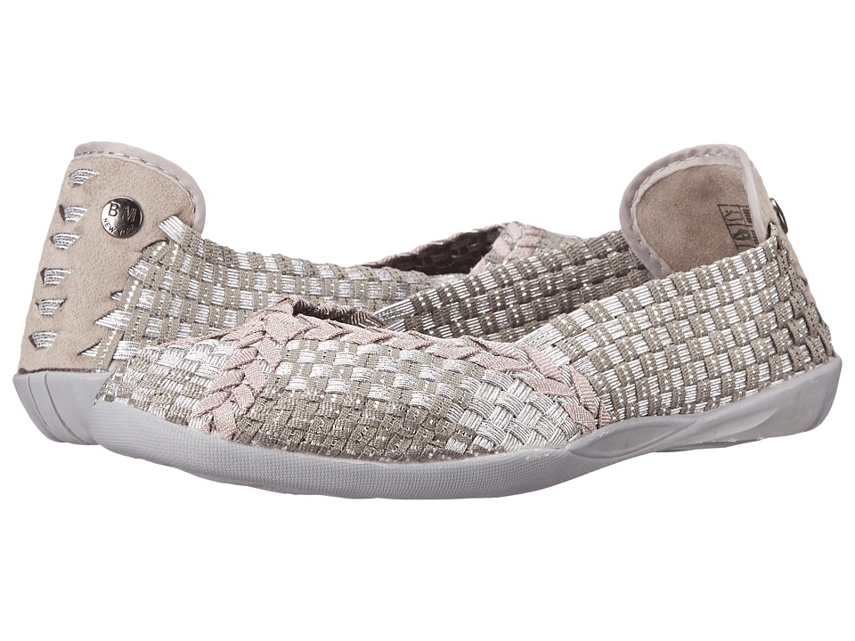 bernie mev. Braided Catwalk (Silver Grey/Rose Gold) Slip-On Shoes