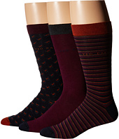 Ted Baker - Britsat Original Stripe Plain Geo Socks 3-Pack