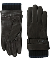 Ted Baker - Hoftoff Two-Tone Ribbed Leather Gloves