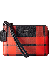 COACH - Plaid Corner Zip