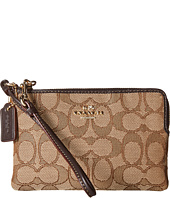 COACH - Box Program Signature Corner Zip