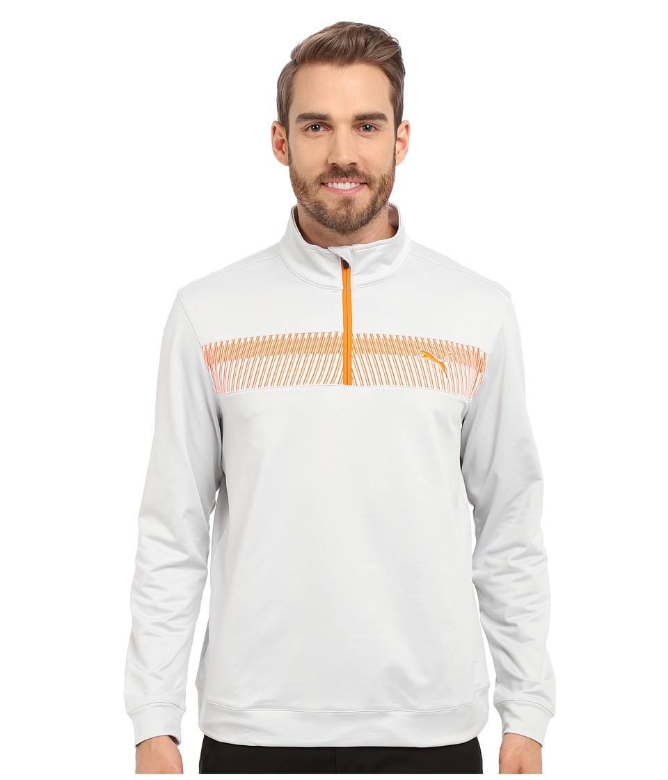 PUMA Golf 1/4 Zip Block Popover Glacier Grey Mens Clothing