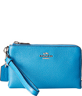 COACH - Polished Pebbled Double Corner Zip