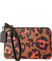 COACH - Leopard Ocelot Print Corner Zip