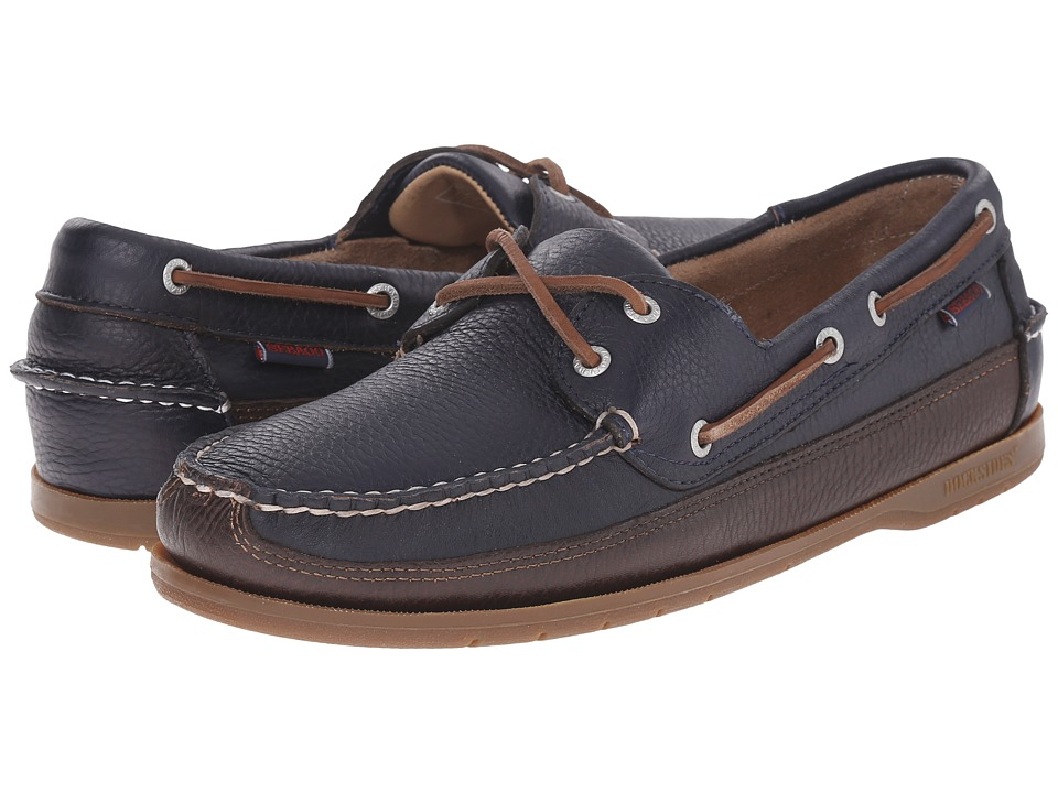 Sebago Schooner (Navy/Brown Leather 1) Men