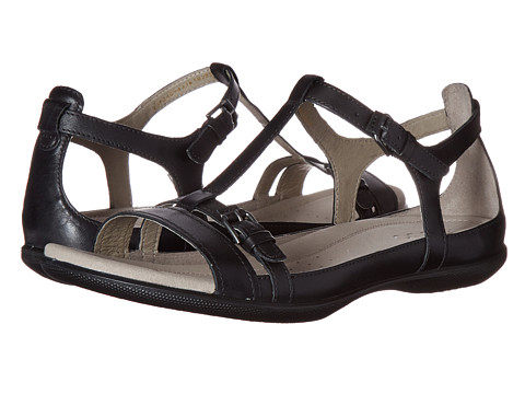ECCO Flash T-Strap Sandal II - Black