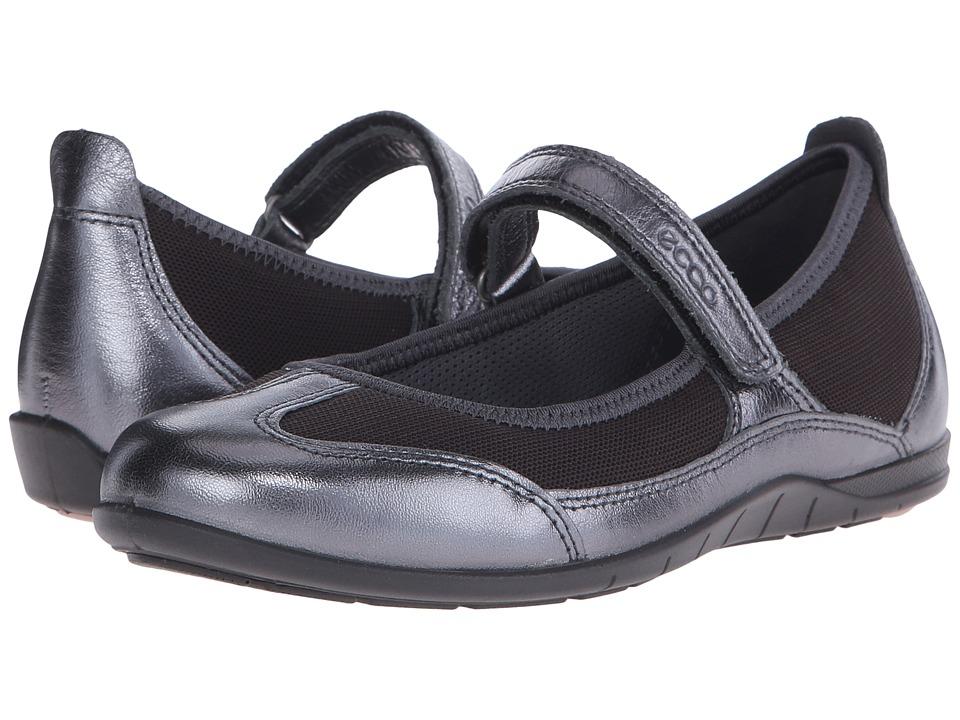ECCO Bluma MJ Sandal Dark Shadow Metallic/Licorice Womens Sandals