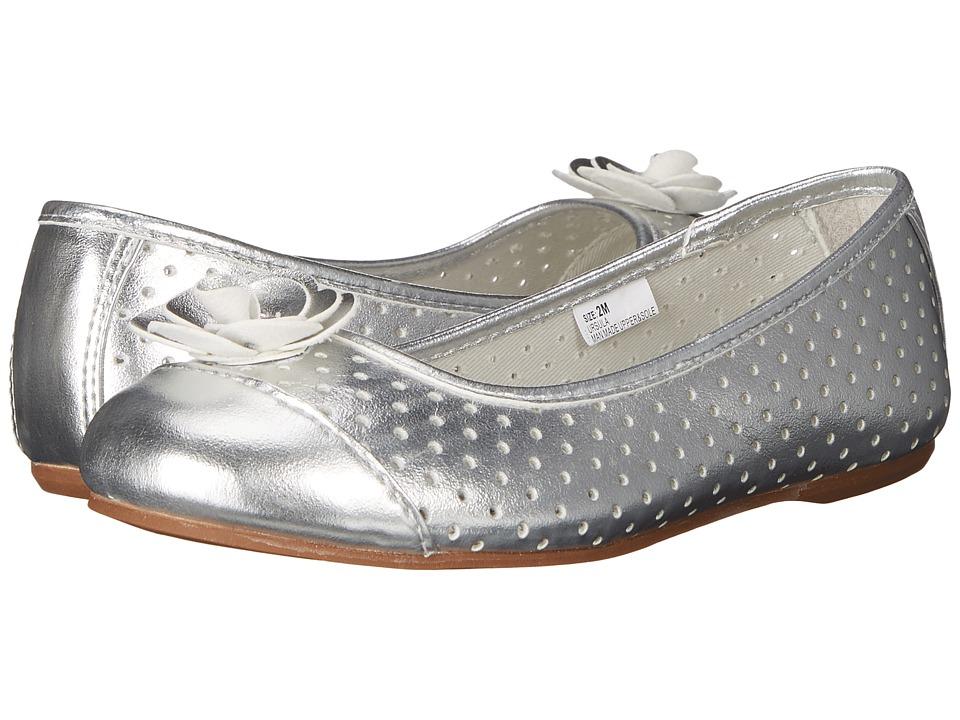 Hanna Andersson Ursula Toddler/Little Kid/Big Kid Silver Girls Shoes