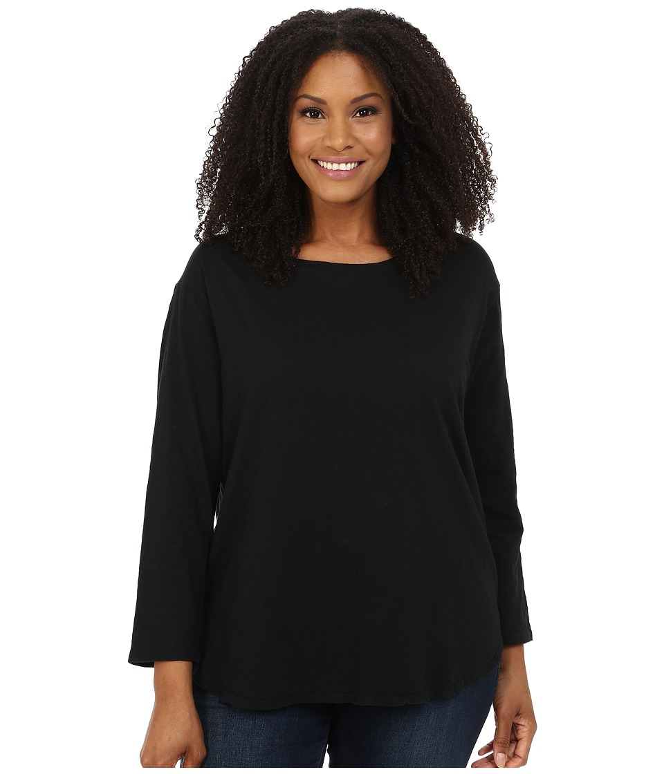 Extra Fresh by Fresh Produce - Plus Size Catalina Shirt (Black) Womens Clothing