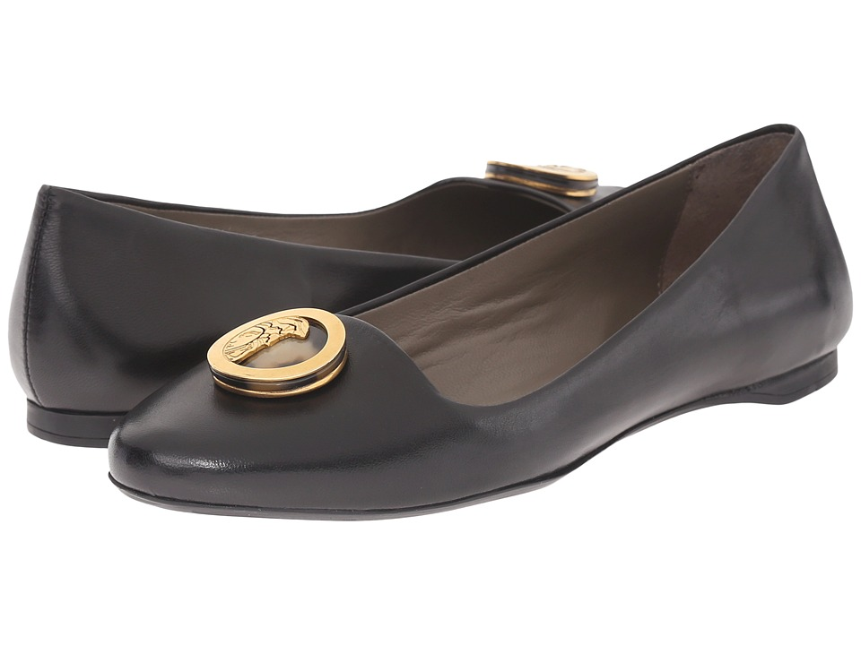 Versace Collection Oro Bizantino Flat Nero Womens Flat Shoes