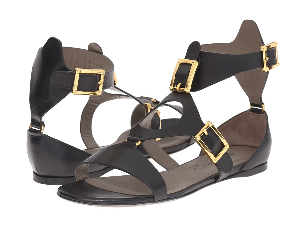 Versace Collection Oro Bizantino Sandal Nero Womens Sandals