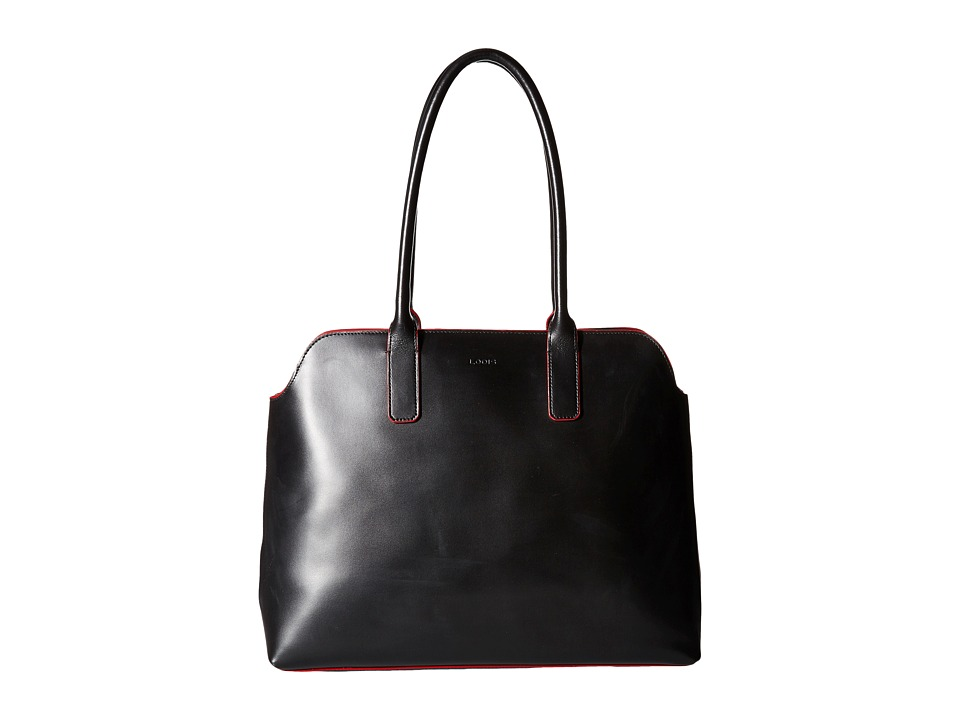 Lodis Accessories - Audrey Ivana Work Tote (Black/Red) Satchel Handbags